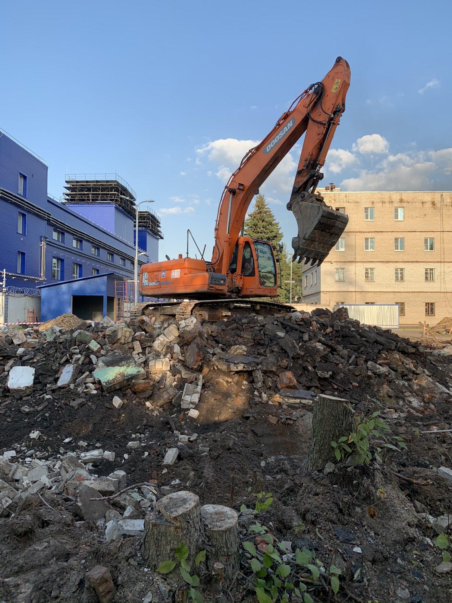Демонтаж здания лаборатории. Завод «Климов»